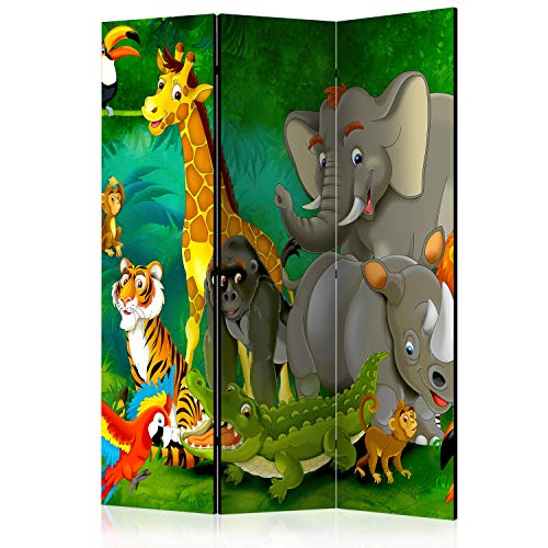 murando Raumteiler Foto Paravent für Kinder 135x172 cm beidseitig auf Vlies-Leinwand Bedruckt Trennwand Spanische Wand Sichtschutz Raumtrenner Kinderzimmer e-B-0007-z-b