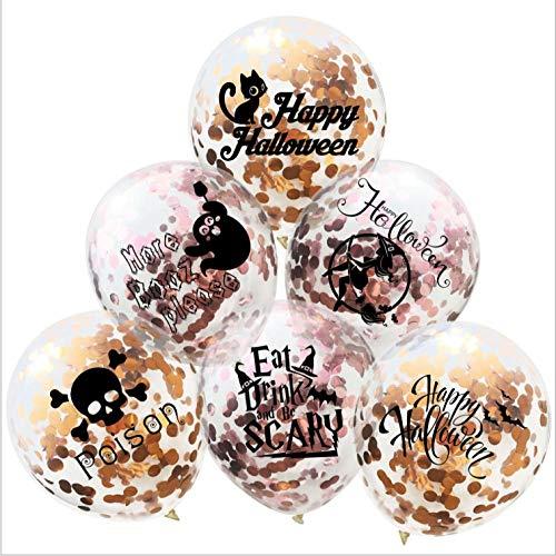 LMWB Halloween Rose Gold Confetti schedel ballon Ghost Festival heks geest champagne goud papier ballon willekeurig gratis combinatie 20/30/40 20