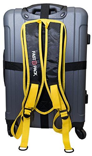 FastBpack - Adaptador de viaje que convierte la maleta en una mochila. Travel Gear Suitcase to Backpack Converter (amarillo-amarillo)