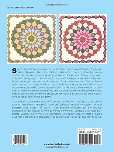 Schnell und einfach Giant Dahlia Quilt: Step-by-St...