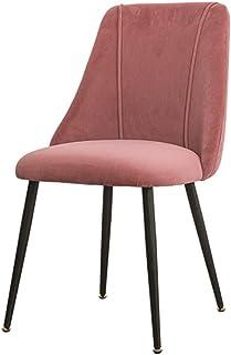 ZZRS cómodas sillas Asiento Acolchado Hotel Conference Silla for hogar, Cocina Comedor (Color : Pink)