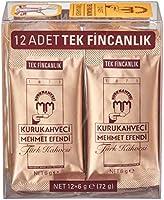 Kurukahveci Mehmet Efendi Türk Kahvesi Tek İçimlik 12'li Paket (12 x 6 Gr.)