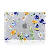 iDonzon MacBook Pro 13 inch Case (A2159 A1989 A1706 A1708, 2019 2018 2017 2016 Release), 3D Effect Matte Clear See Through Hard Cover Compatible Mac Pro 13.3 inch with Touch ID - Floral