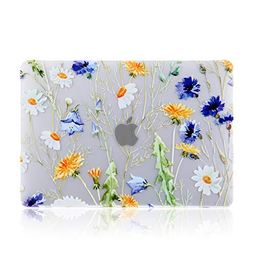 iDonzon MacBook Pro 15 inch Case (2016-2019 Release) A1990/A1707, 3D Effect Matte See Through Hard Case Cover Compatible Newest MacBook Pro 15 inch with Touch Bar and Touch ID - Floral Pattern