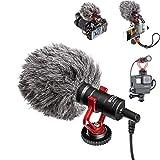 ビデオマイク ショックマウント付き、Sony Canonカメラジンバルスタビライザー用ビデオVlog Tiktok録音