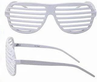 White Frame Sunglasses Shutter Shades Glasses Retro Club Party Rave Hip New