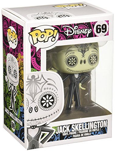 Funko Pop!- Nightmare Before Christmas-Day of The Dead Jack Skellington Vinyl: Disney: NBX Negro, Color Blanco (3657)