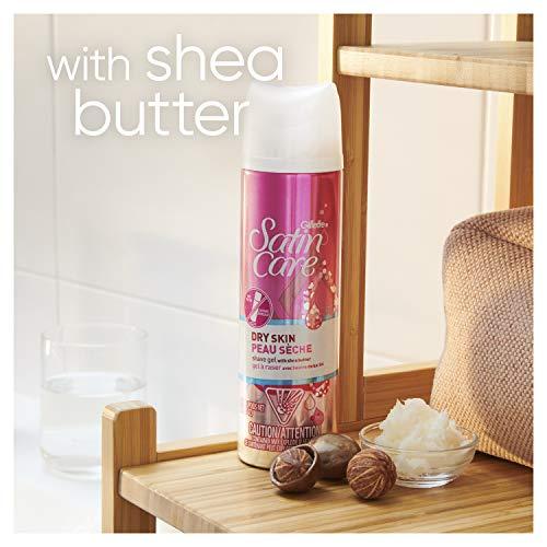 Gillette Satin Care Dry Skin Women's 7oz Shave Gel - Pack of 6