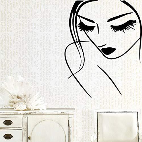 Yaonuli Elegante muursticker voor dames, slaapkamer, decoratie, vinyl, zelfklevend, decoratie, muurdecoratie, stickers