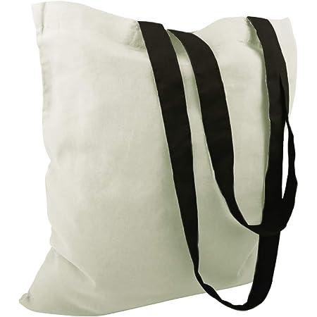 Cottonbagjoe Baumwolltaschen | 38x42 cm | unbedruckt | mit zwei langen Henkeln | bemalbar | Öktex 100 zertifiziert | Jutebeutel | Stofftaschen