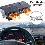 SANWAN Kit de chauffage de voiture 12 V 500 W Chauffage rapide Ventilateur dégivrant Dégivrage pour pare-brise de voiture Hiver