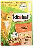 kitekat cibo per gatto, la simpatica canaglia in salsa con pollo, manzo, anatra e salmone 12 x 100 g - 4 confezioni (48 pezzi in totale)