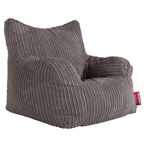 Lounge Pug®, Sitzsack Ohrensessel, Cord Schiefergrau