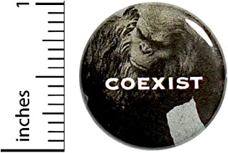 Coexist Fridge Magnet for Refrigerators or Lockers Funny Bigfoot Cool Yeti Sasquatch 1 Inch M2-5