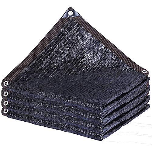 HLMIN Toldo Vela De Sombra Negro Tasa De Sombreado Del 95% Puntada Plana Cubierta De Sombra Privacy Screen Net A Prueba De Viento for Patio Patio Jardín Balcón ( Color : Black , Size : 6x6m )