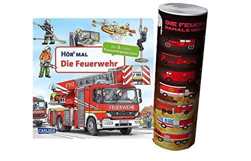 HÖR MAL: Die Feuerwehr (Pappbilderbuch) + Kinder Feuerwehr Auto Poster von Collectix