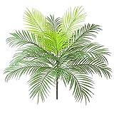 AIVORIUY Palmera Artificial Arbusto Hoja de Palma Tropical con Tallos Selva Planta Verde Vegetación, Safari Hojas Simulación Plantas Tropicales Decoraciones de Fiestas Hawaianas Arreglo Floral Florero
