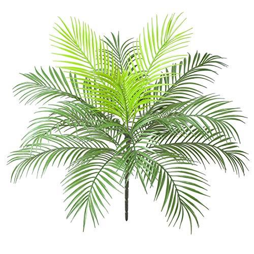 AIVORIUY Palmera Artificial Arbusto Hoja de Palma Tropical con Tallos Selva Planta Verde...