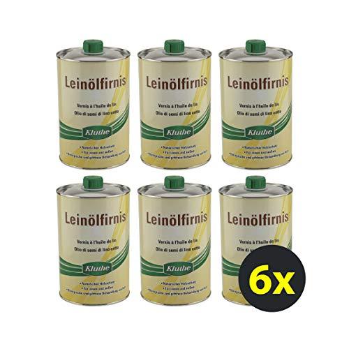 6x Kluthe Leinölfirnis 1 Liter