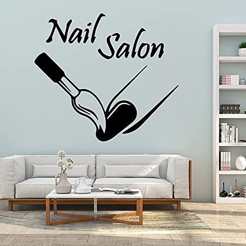 Funny nail polish stickers living room bedroom removable decals waterproof self-adhesive wall stickers stickers A9 43x48cm