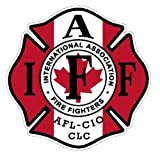 IAFF Canada Sticker 4' Exterior Mount Canadian...