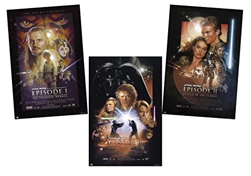 Close Up Star Wars Posterset Filmplakat Episode 1-3 (61,0 cm x 91,5 cm)