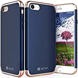 iPhone 8 Case, iPhone 7 Case, Vena [Mirage][Chrome] Dock-Friendly Slim Fit Hard Case Cover for Apple iPhone 8 / iPhone 7 (4.7'-inch) (Navy Blue/Rose Gold)