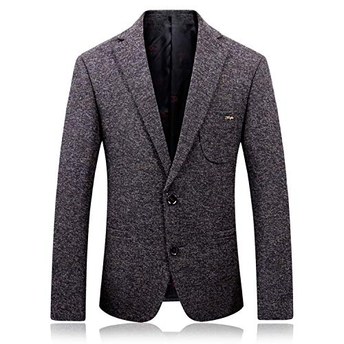Goods-Store-uk Herfst Winter Herenwol 3XL Past Jassen Single Suit Witte Achtergrond Blazer Jassen