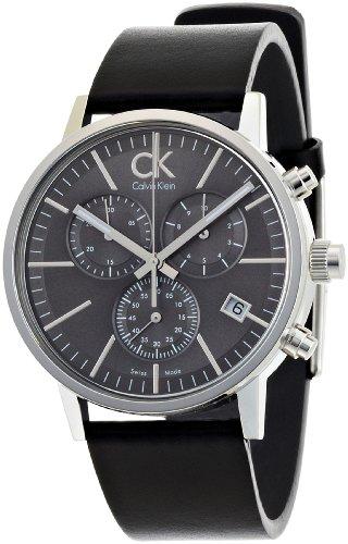Calvin Klein Post Minimal K7627107 - Reloj de Caballero de Cuarzo, Correa de Piel Color Negro