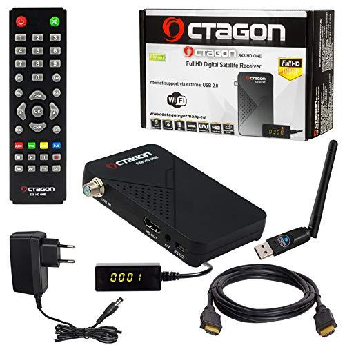 HB-DIGITAL Mini Receptor Satélite SAT Octagon SX8 HD ONE + Cable HDMI +...