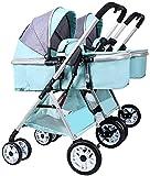 Zhiding 3 in 1 Kinderwagen, Kinderwagen und Kinderschalen von Geburt, kompakter Kinderwagen mit verstellbarer Rückenlehne, leichter Hoher Landschaft Aluminium-Kinderwagen, extra großes Lagerkorb, Kind