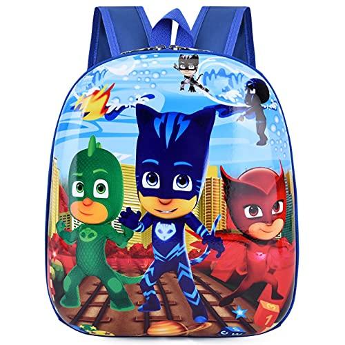 simyron Mochila Infantil PJ Hero 3 Bolsa Impermeable Estuche Escolar Niñas Bolsa Escuela Dibujos Animados Animales Mochila Infantil Viaje Mochila para Guardería Preescolar Primaria Viajar