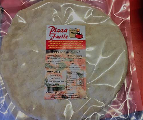 BASI PIZZA PRECOTTE - 10 basi artigianali (PIU'UNA IN OMAGGIO)senza additivi aggiunti da 240g, confezionate singolarmente in sottovuoto in ATM