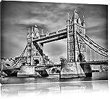 Monocrome, Tower Bridge, Format: 60x40 auf Leinwand, XXL