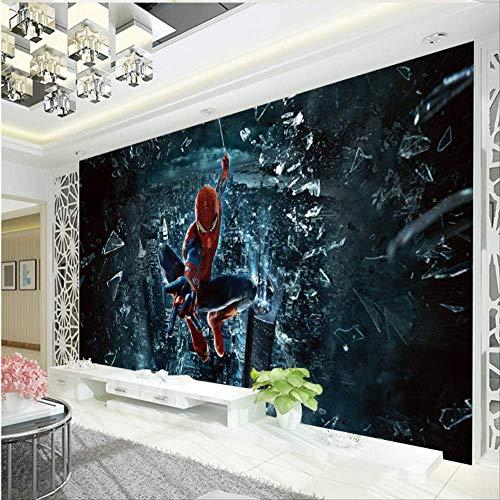 Spiderman Photo Wallpaper Custom Large Wall Art Mural De Pared Superhéroe Wallpaper Decoración De La Habitación Sofá Pared De Fondo Habitación De Los Niños Ancho 200 cm * Altura 200 cm