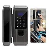 Cerradura electrónica de la puerta de la huella digital, contraseña de la huella digital de la puerta de cristal Cerradura electrónica inteligente digital para la seguridad de la oficina en casa
