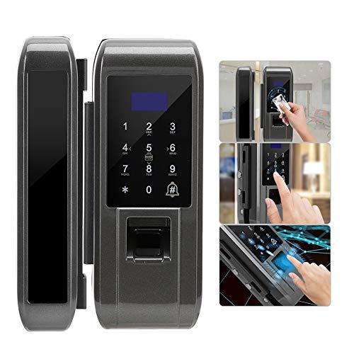 Intelligent deurslot, diefstalbeveiliging Intelligent biometrisch vingerafdrukwachtwoord Digitale elektronische beveiliging Glazen deurvergrendeling voor het thuiskantoor
