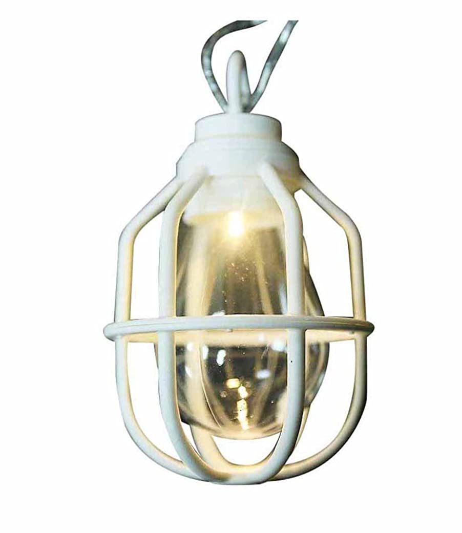 誓い馬鹿神ドウシシャ ガーデンライト 屋外 LED電池式ライト 10球 クラシックランプ ホワイト LPB-CR10W