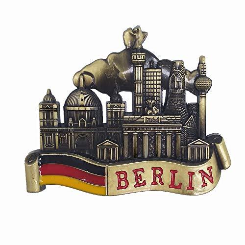 MUYU Magnet Berlin Deutschland 3D Metall Kühlschrankmagnet Tourist Souvenir Geschenk Haus & Küche Dekoration Magnetische Aufkleber Berlin Deutschland Kühlschrankmagnet Sammlung