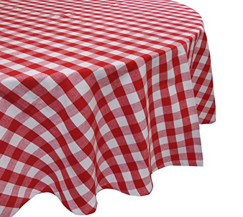 Yourtablecloth 100% Cotton Checkered Buffalo Plaid Tablecloth  Ideal for Home, Restaurants, Cafs  Be it for Everyday Dinner, Parties, Picnic, Holidays or Occasions, 70