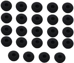 18mm nero WEWOM 20 pezzi,cuscinetti di ricambio per auricolari in-ear