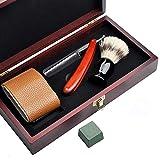 POOPFIY Barbero Razor Set, Manual Afeitado, con Caja de Almacenamiento