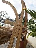 DESIGN Hängesesselgestell Hängesessel aus Holz Lärche Modell: CATALINA komplett mit großem Stoffsessel von AS-S - 8