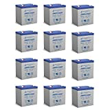 12V 5AH SLA Replaces Power Wizard PW100S, PW200S, PW500S - 12 Pack