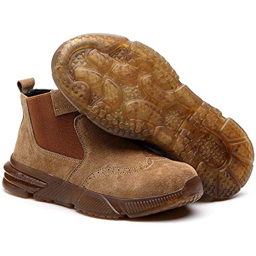 XZDM Steel Toe Waterproof Work Boot Special Burn-Proof Boots for Electric Welders, Lightweight,...