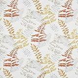 englisch dekor Dekostoff Vorhangstoff Blättermuster orange