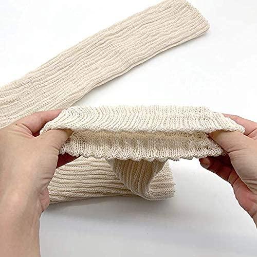 サイズは少し長めの45cmのロングタイプなので、足首から膝までやさしく包み込んでくれます。全体的にやわらかで履きやすく、カラーもナチュラルなベージュとグレーなので、おうちでの冷え対策だけでなくオフィスでの着用もおすすめです。