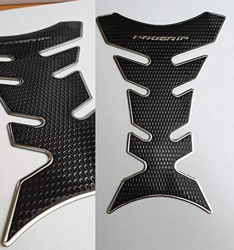 Tankpad Tankschutz Motorrad Carbon Optik Silber Schwarz Chrom Chrome