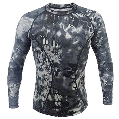 Webetop Maglietta a maniche lunghe tattico Quick Dry Sport T-shirt Tees, XL, Nero