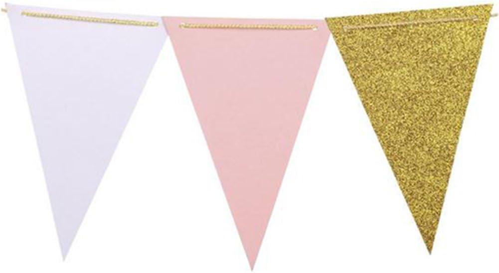 D DOLITY Dreieck Wimpelkette Girlande Banner aus Stoff f/ür Hochzeit Geburtstag Party Kindergarten Dekor Blau 2,5 Meter